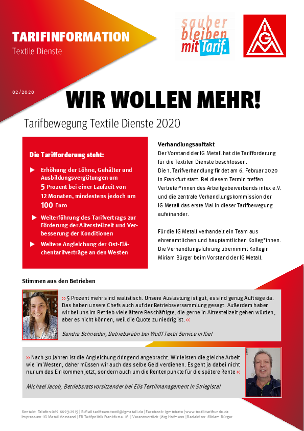 igm tarifvertrag 2020